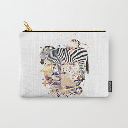 Zebra Cross by GEN Z Carry-All Pouch