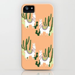 Cute Llama Pattern iPhone Case