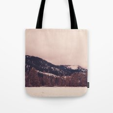 Stormy, Snowy, Forest Panorama Tote Bag