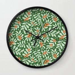 Christmas Berries Wall Clock