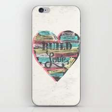 BUILD LOVE iPhone & iPod Skin