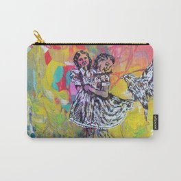 Two-Headed Girl with Bird Carry-All Pouch