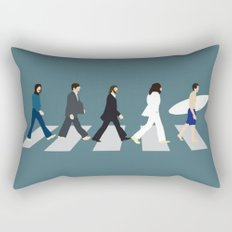 The Beattles & Surfer Man Rectangular Pillow