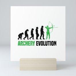 Archer Archery Evolution T Shirt Bowhunting TShirt Hunter Shirt Evolution-Look Gift Idea Mini Art Print