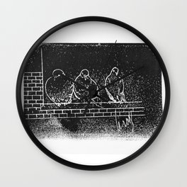 Philly Pigeons 2 Wall Clock