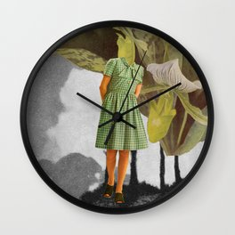 Green is not my colour Wall Clock
