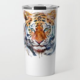 Tiger Head watercolor Travel Mug