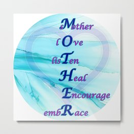 An ode to MOTHER - blue, purple, heart Metal Print