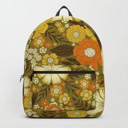 1970s Retro/Vintage Floral Pattern Backpack