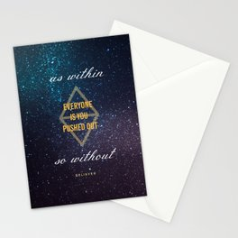 Everyone Is You Pushed Out Stationery Cards