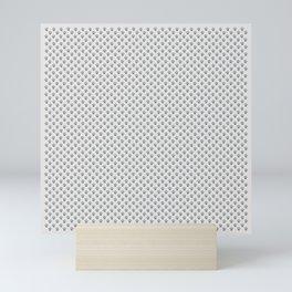 Tiny Paw Prints - Grey on Light Silver Grey Mini Art Print