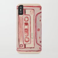 tape iPhone & iPod Cases featuring tape by muskawo