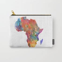 Africa Watercolor Map Art by Zouzounio Art Carry-All Pouch