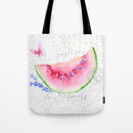 La Pastèque de Béziers—Watermelon and Lavender, Provence Tote Bag