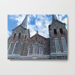 Church and Clouds Metal Print