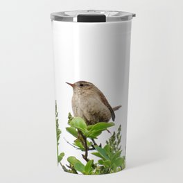 Wren Songbird Bird on a Branch (Troglodytes) Travel Mug