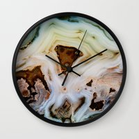 geology Wall Clocks featuring THE BEAUTY OF MINERALS by Catspaws