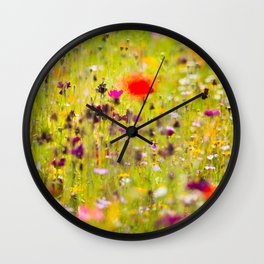 Flower Fiesta Wall Clock