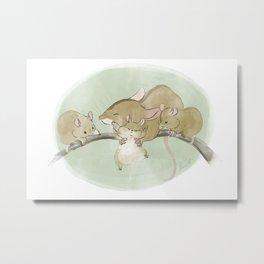 Mouse Family  Metal Print
