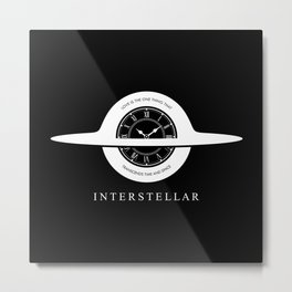 Interstellar - Gargantua minimalist + quote Metal Print