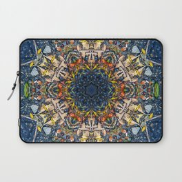 Leaves and River Mandala Laptop Sleeve