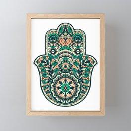 Hamsa Abstract Framed Mini Art Print