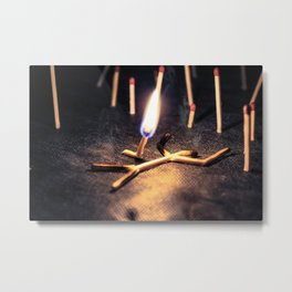THE GREAT FIRE Metal Print