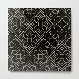 Islamic-African Geometric Pattern Metal Print
