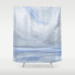 Unclear - Moody Gray Ocean Seascape Shower Curtain