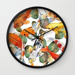 koi carp Wall Clock