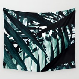 Inside of Palm Trees Wall Tapestry