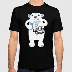 White Bear Mens Fitted Tee MEDIUM Black