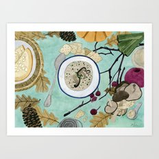 Mushroom Porridge  Art Print
