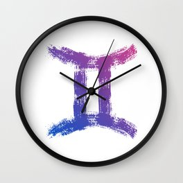 Zodiac sign Gemini Wall Clock