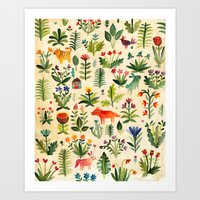 garden Art Prints featuring Garden by AITCH