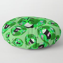 SoccerComics Green Floor Pillow