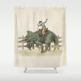 Dino Rodeo  Shower Curtain