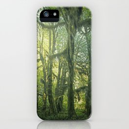 Sunrise in the Hoh Rainforest. iPhone Case