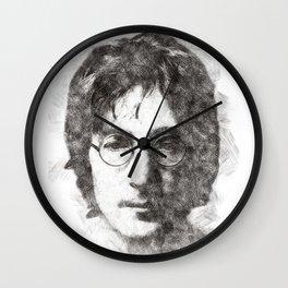 John portrait 01 Wall Clock