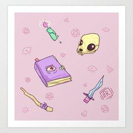 Pastel Necromancy Art Print