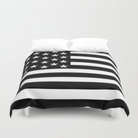 flag Duvet Covers featuring Flag by loveme