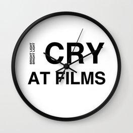 Cry At Films Wall Clock