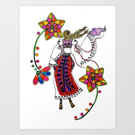Kolo Dancer Art Print