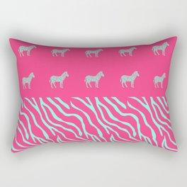 Pink zebra mix Rectangular Pillow