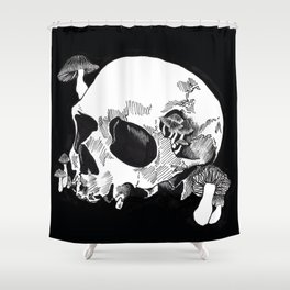 Skull & Mushrooms Shower Curtain