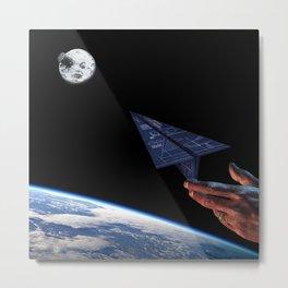 To aim the moon Metal Print
