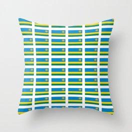 Flag of rwanda -rwanda,Rwandan,rwandais,ruanda,Gasabo,kigali. Throw Pillow