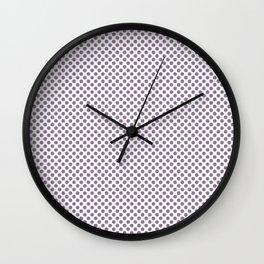 Orchid Mist Polka Dots Wall Clock