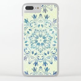 green mandala design Clear iPhone Case