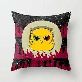 owl supremacy Throw Pillow